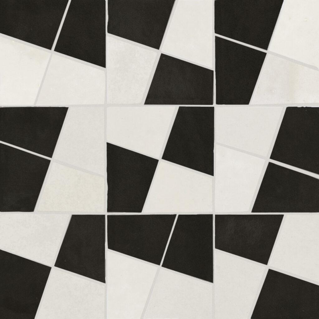 Marazzi-Crogiolo-Zellige-Mosaico Gesso Carbone-Mosaik-Tradition-Handwerk-Retro-Glanz-Design-inspiration