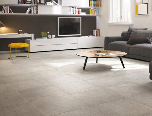 Ideen zur Gestaltung des Wohnzimmers mit Fliesen