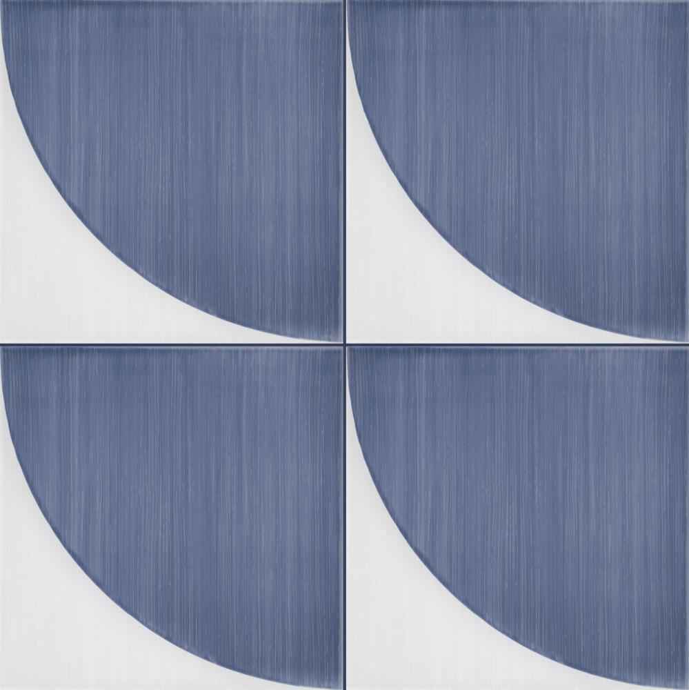 Marazzi-Scenario-tappeto 2a Blu-Dekorfliese-retro-modern-grafik