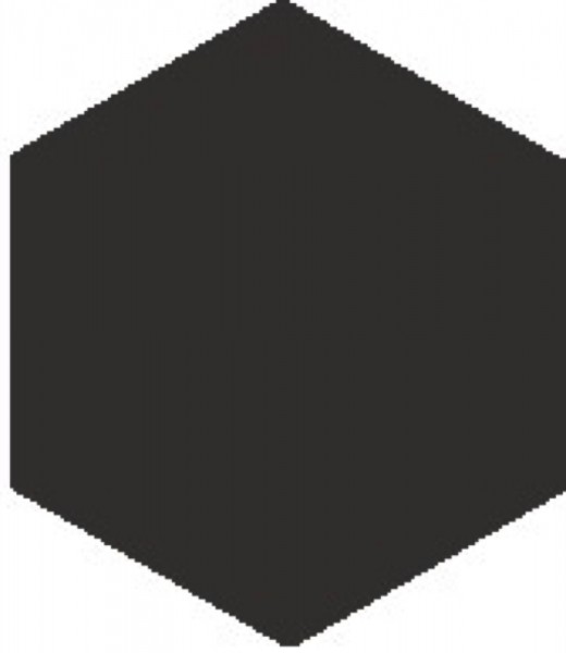 Zahna Historic Schwarz Uni Sechseck 15x17,3/1,1 Art.-Nr.: 611150001.02