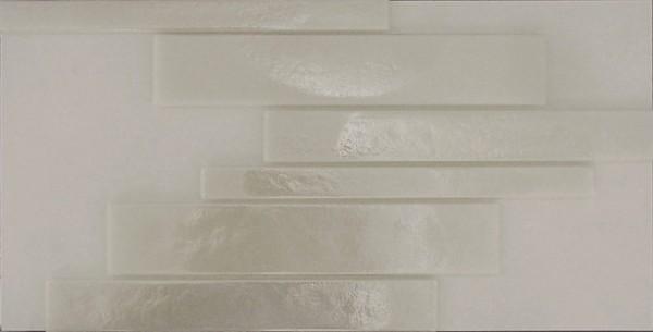 Casa dolce casa Casamood Vetro Bianco Lux Listello Mosaikfliese 21x25 Art.-Nr.: 515662