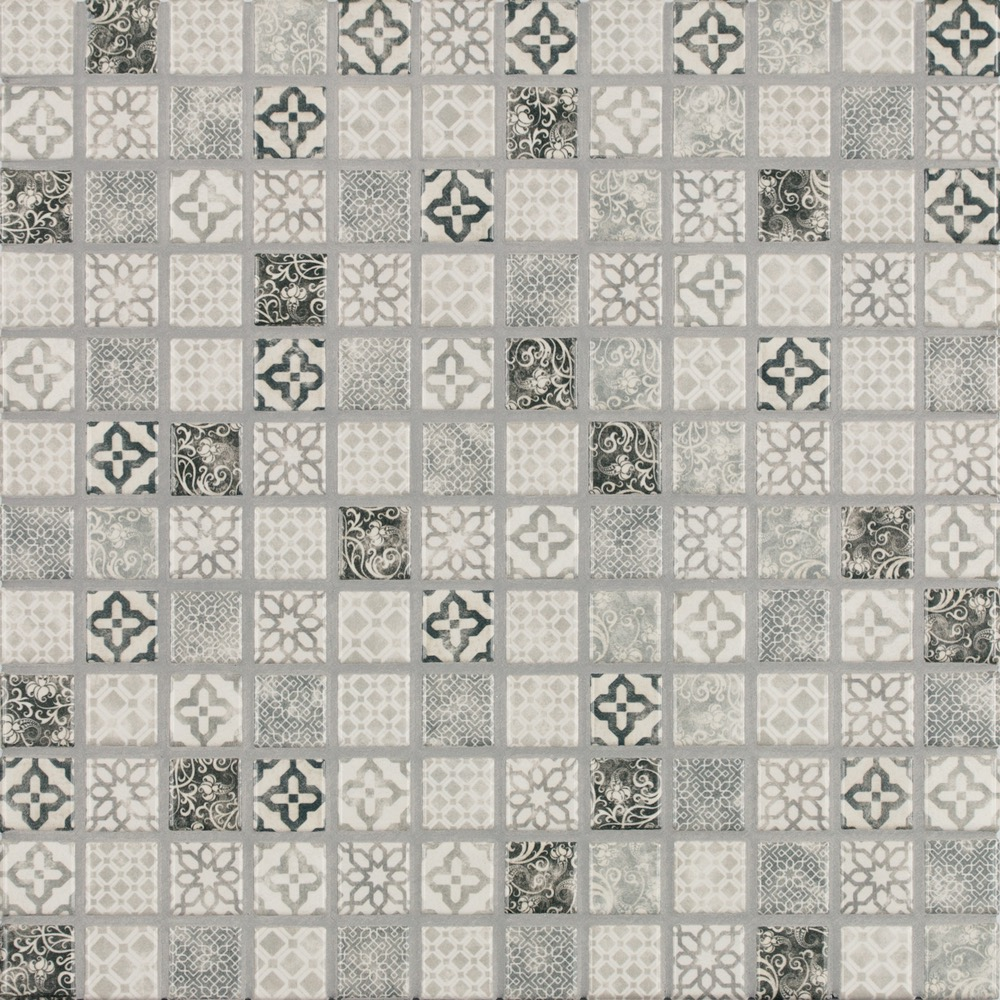 Jasba Pattern Vola Grau Mosaikfliese 2X2 31X31 H