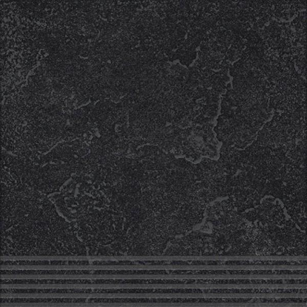 Agrob Buchtal Ancona Schwarz Stufe 30x30 R9 Art.-Nr.: 436496
