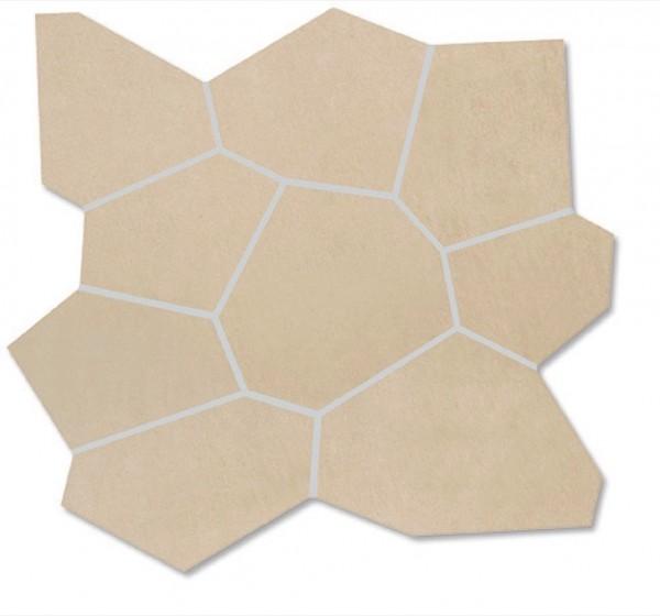 Agrob Buchtal Xeno Polygon Juraweiss Einleger 30x31,5 R10/A Art.-Nr.: 433384