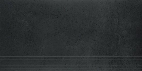 Agrob Buchtal Como Graphitschwarz Stufe 30X60 R9 Art.-Nr.: 434076