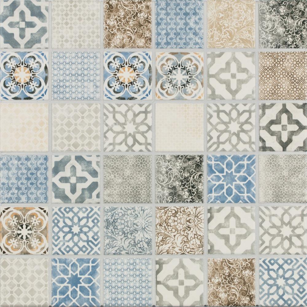 Jasba Pattern Vola Bunt Secura Mosaikfliese 5X5 R10 B