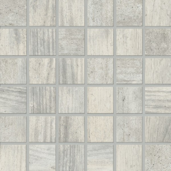 Agrob Buchtal Mandalay Weiss Grau Mosaikfliese 5x5(30x30) R10/B Art.-Nr. 434498
