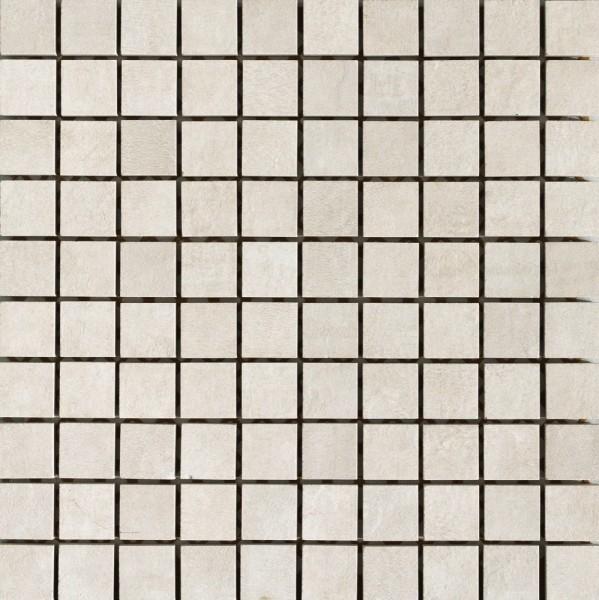 Musterfliesenstück für Unicom Starker Icon Quadrat Bone White Mosaikfliese 30x30 Art.-Nr. 7640(5273)