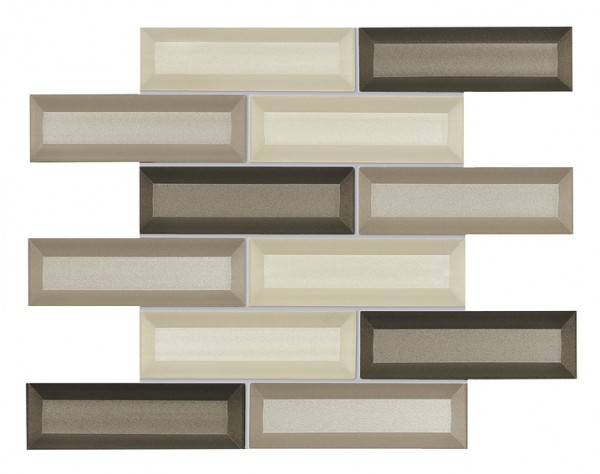 Agrob Buchtal La Casa 3d Glass Bronze Mix Mosaikfliese 5X15(30X36) Art.-Nr.: 063040