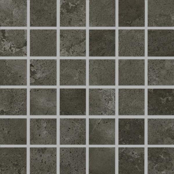 Agrob Buchtal Kiano Kohleschwarz Mosaikfliese 5X5(30X30) R10/B Art.-Nr. 431953H