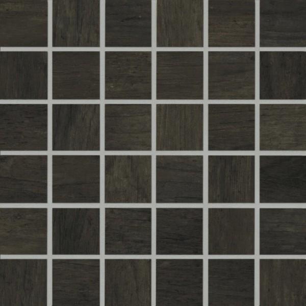 Agrob Buchtal Mandalay Schwarzbraun Mosaikfliese 5x5(30x30) R10/B Art.-Nr. 434501
