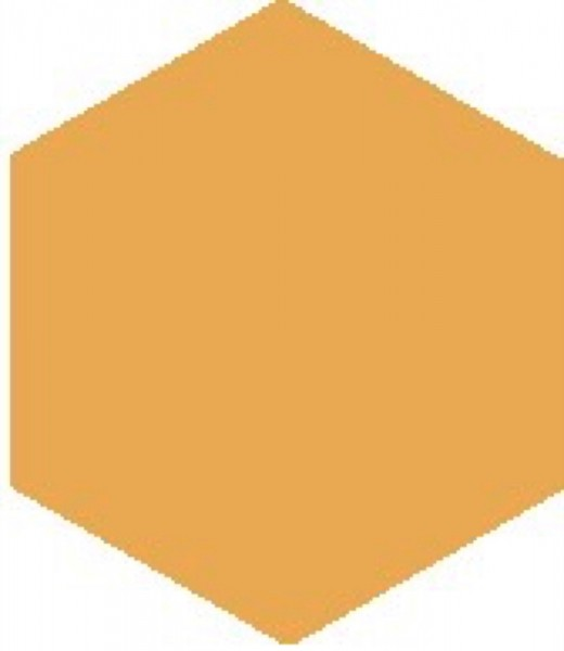 Zahna Historic Gelb Uni Sechseck 15x17,3/1,1 Art.-Nr.: 611151451.03