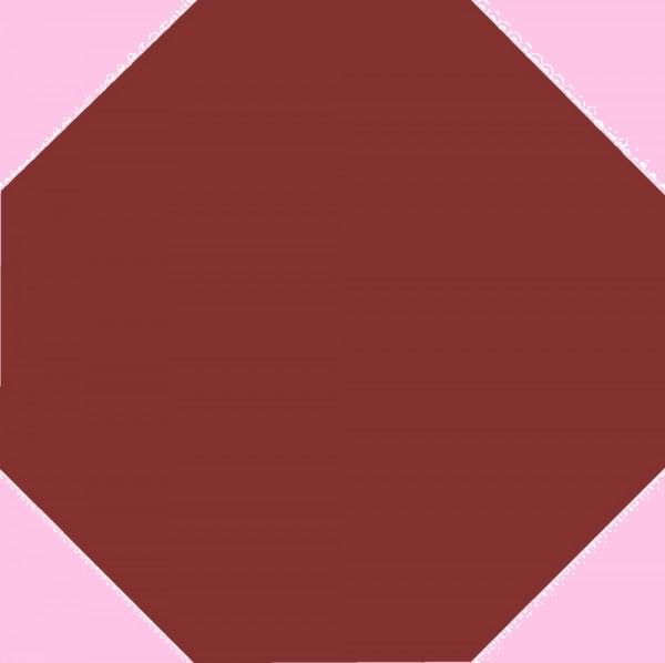 Zahna Ambiente Rot Uni Achteck 17x17/1,1 Art.-Nr.: 811171001.04
