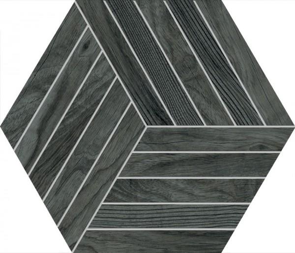 Agrob Buchtal Oak Eiche Anthrazit Hexagon 30x35/0,8 Art.-Nr. 8472-B698HK