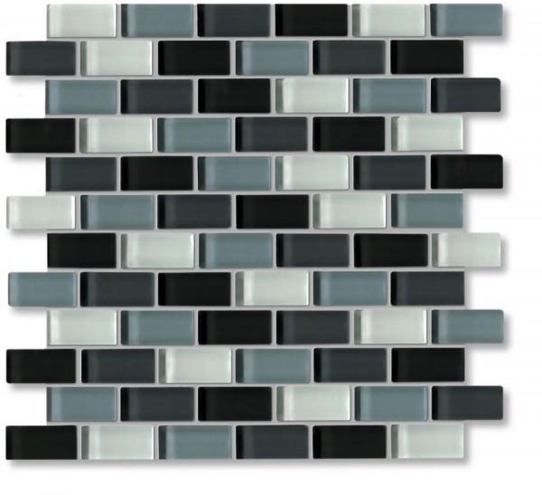 Agrob Buchtal Tonic Schwarz Weissmix Glz Mosaikfliese 30x30 Art.-Nr.: 060534