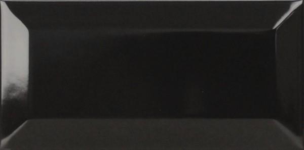 Musterfliesenstück für FKEU Kollektion Metro Diamant Schwarz glänzend Wandfliese 7,5x15 Art.-Nr.: FKEU0990725