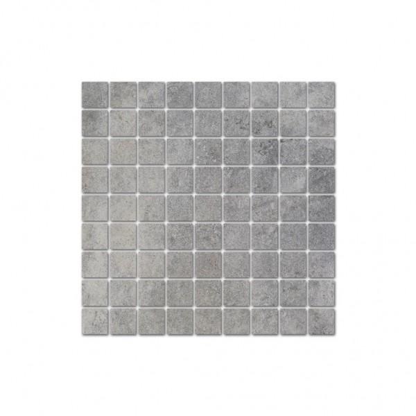 Interbau Wohnkeramik Lithos Devon Grau Mosaikfliese 31,3x31,3 R10/B Art.-Nr.: 753131334